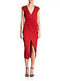 Donna Karan - Cap-Sleeve Draped Dress at Saks Off 5th
