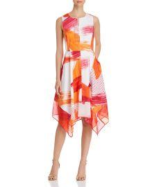 Donna Karan New York Abstract Handkerchief-Hem Dress at Bloomingdales