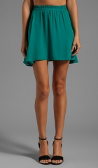 Donna Mizani Circlet Skirt in Jade at Revolve