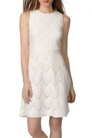 Donna Morgan Chevron Lace Fit and Flare Dress at Nordstrom Rack