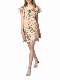 Donna Morgan Flutter Sleeve Shift Dress at Lord and Taylor