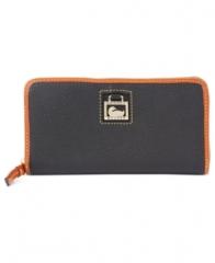Dooney and Bourke Handbag Dillen Large Zip Around Wallet in black at Macys