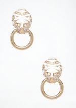 Door Knocker Earrings by Bebe at Bebe