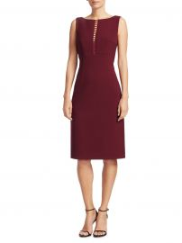 Doreen Ladder Front Sheath Dress by Elie Tahari at Lord & Taylor