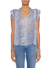 Doria Top in Sky at Hapden Clothing