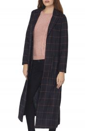 Dorothy Perkins Check Maxi Coat at Nordstrom
