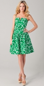 Dorrit's green dress by Milly at Shopbop