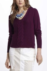 Dotted and Cabled sweater at Anthropologie