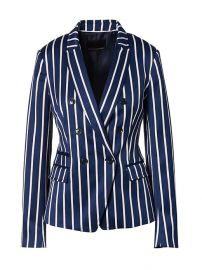 Double-Breasted Fit Stripe Blazer at Banana Republic