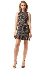 Double Crepe Leopard Sara Dress by Yeojin Bae at Yeojin Bae