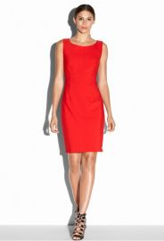 Double Crepe Zip Sheath Dress at Milly