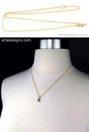 Double Drop 2 Tone Necklace at Arte Designs