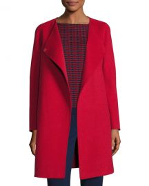 Double-Faced Wool Wrap Coat at Neiman Marcus