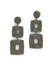 Double Square Earrings by Kenneth Jay Lane at Rent The Runway