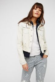 Double Weave Denim Jacket by Free People at Free People