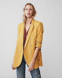 Double breasted blazer at Express