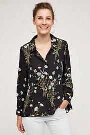 Draped Flora Buttondown at Anthropologie