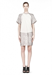 Draped Neck Tshirt Dress at Alexander Wang