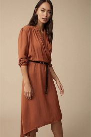 Draped Shawl Collar Dress at Witchery