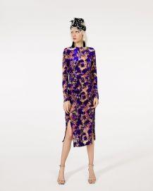 Draped Velvet Dress by Zara at Zara