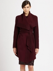 Draped coat by Donna Karan at Saks Fifth Avenue