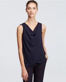 Draped cowl neck top at Ann Taylor
