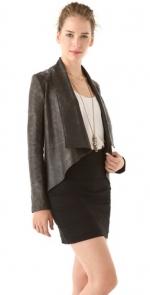 Draped leather jacket like Juliettes at Shopbop