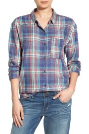 Drapey Plaid Boyfriend Shirt at Nordstrom Rack