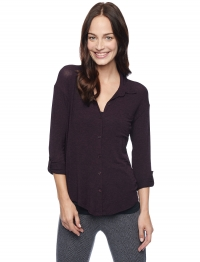 Drapey lux shirt in Eggplant at Splendid