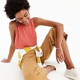 Drapey top with ladder trim at J. Crew