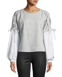 Drawstring Long-Sleeve Blouse  1.State at Last Call