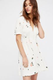 Dream Girl Mini Dress  ivory at Free People