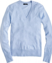 Dream V Neck Sweater in blue at J. Crew
