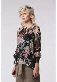 Dreams Yoryu Top with Lace Trim in Gypsy Flora by Once Was at Once Was