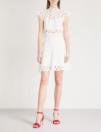 Dress: Cutout embroidered lace mini dress by Sandro at Selfridges
