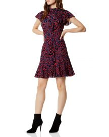 Dress: Ruffled Leopard Print Dress by Karen Millen at Bloomingdales