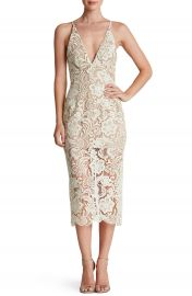 Dress the Population  Marie  Lace Midi Dress at Nordstrom