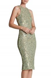 Dress the Population  Shawn  Sequin Midi Dress in mint at Nordstrom