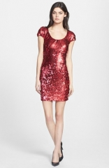 Dress the Population Gabriella Back Cutout Sequin Body-Con Dress at Nordstrom