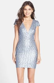 Dress the Population and39Zoeand39 Sequin V-Neck Body-Con Dress at Nordstrom