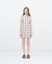 Dress with Contrasting Collar at Zara