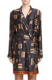 Dries Van Noten Kimono Wrap Dress at Nordstrom