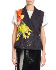 Dries van Noten Baird Floral-Print Double-Breasted Vest at Bergdorf Goodman