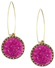 Druzy Earrings at Rachel Roy