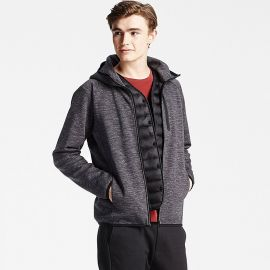 Dry Stretch Zip Up Hoodie in Dark Grey at Uniqlo