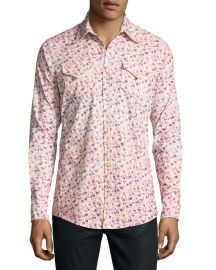 Dsquared2 Floral-Print Western Shirt at Neiman Marcus
