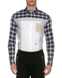 Dsquared2 Mixed-Plaid Cotton Shirt  at Neiman Marcus