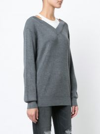 Dual Layered Bardot Sweater by T by Alexander Wang at Farfetch