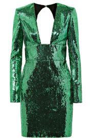 Dundas green sequin dress at Net A Porter