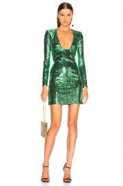 Dundas green sequin dress at Forward